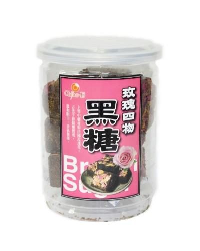 巧益手工黑糖塊-玫瑰四物黑糖 (240g)
