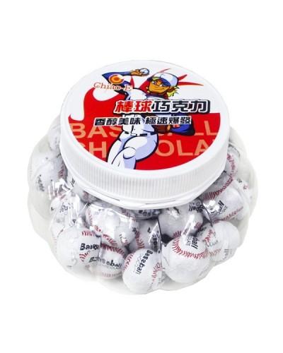 巧益棒球巧克力(南瓜罐)180g