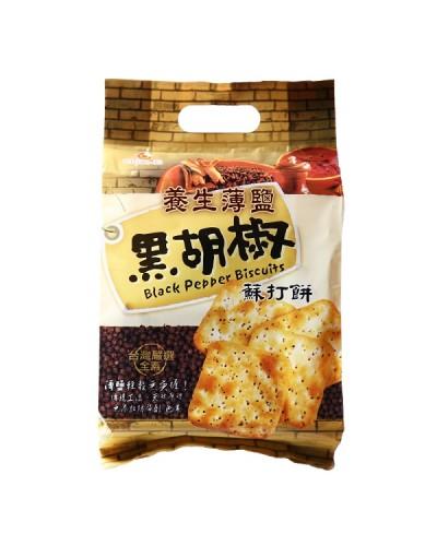 巧益養生薄鹽黑胡椒蘇打餅(全素)216g
