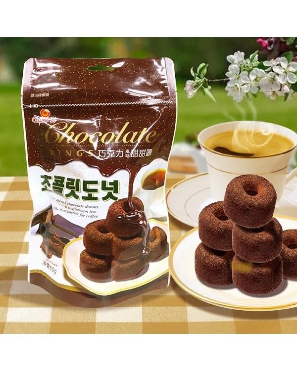 巧益巧克力風味甜甜圈 80g