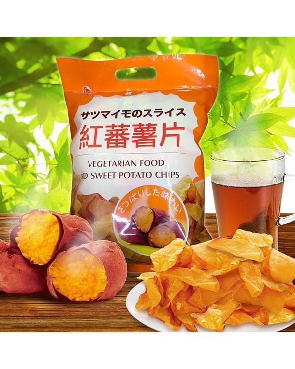 巧益紅番薯片 210g