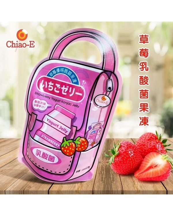 巧益草莓優格蒟蒻果凍 (奶素) 200g