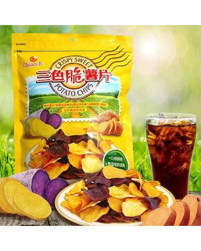巧益三色脆薯片(全素) 220g