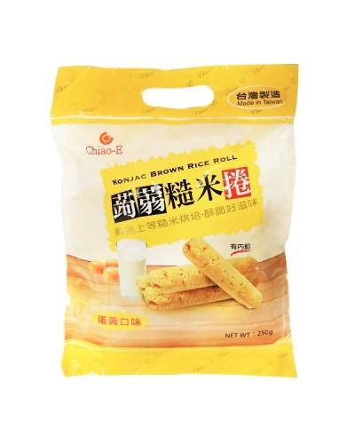 巧益蒟蒻糙米捲(蛋黃)250g