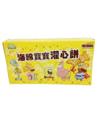 海綿寶寶灌心餅(巧克力口味)162g