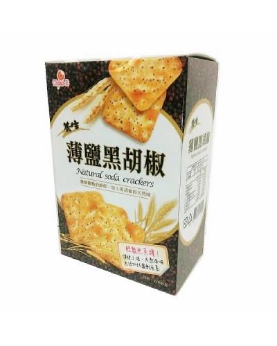 巧益 薄鹽黑胡椒蘇打餅216g