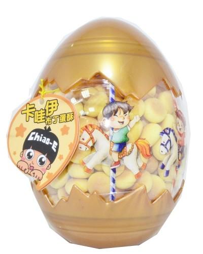 巧益卡哇伊造型蛋-布丁蛋酥 120g