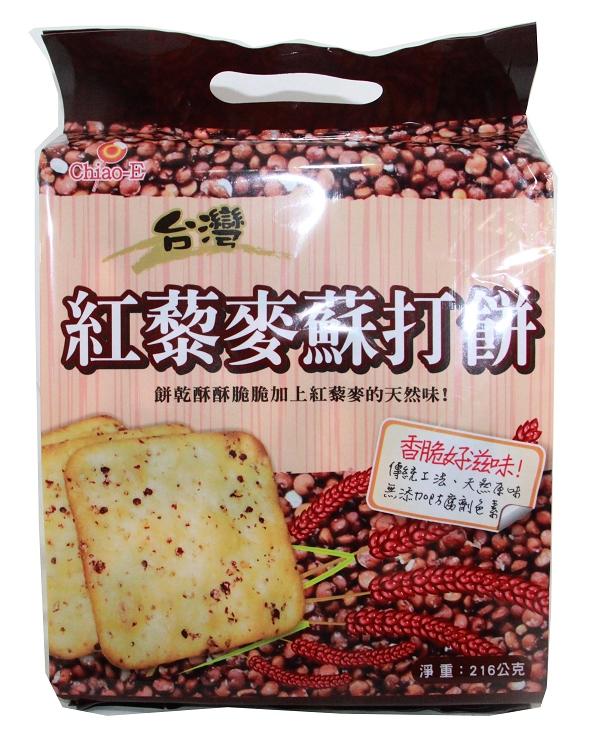 巧益紅藜麥蘇打餅 216g