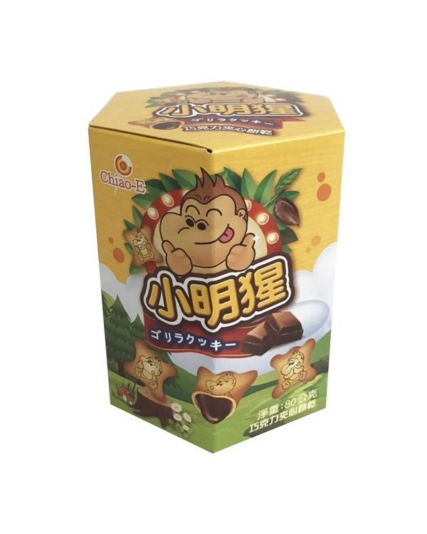 巧益小明猩巧克力夾心餅乾 80g