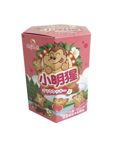 巧益小明猩草莓風味夾心餅乾 80g